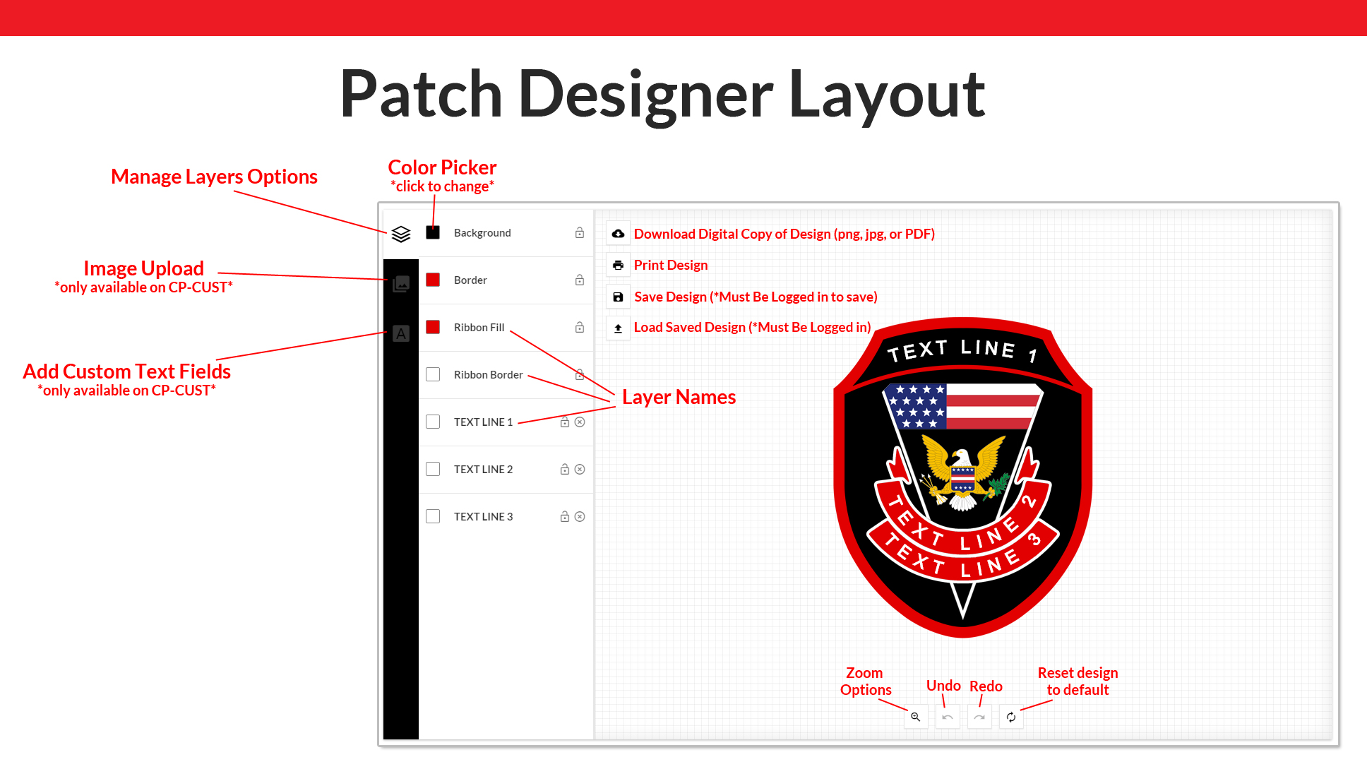 Shield Outline Iv Blank Patch Custom Patches